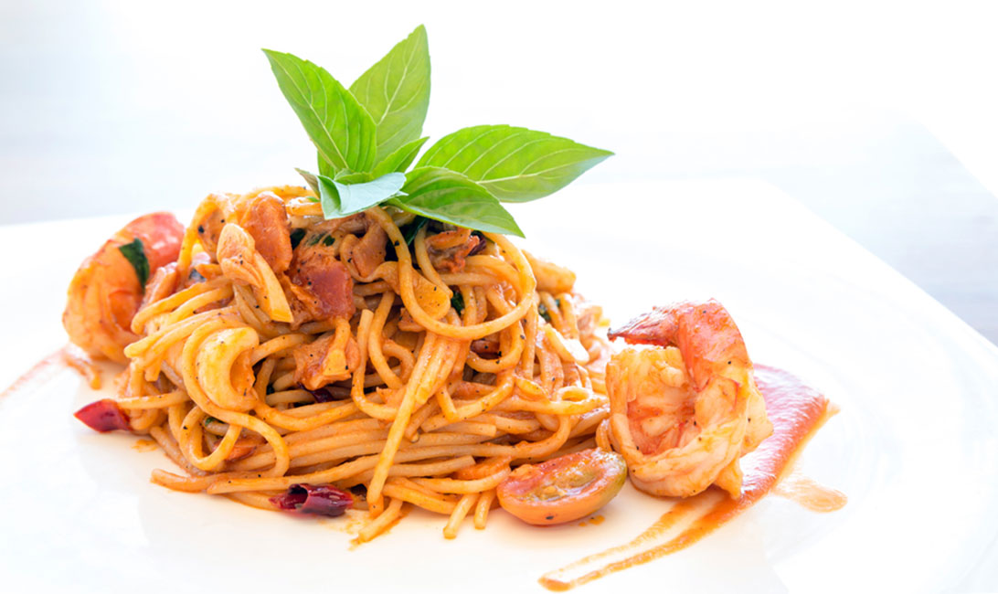 Fideos con gambas al horno | Receta del blog de Al Sur Gourmet